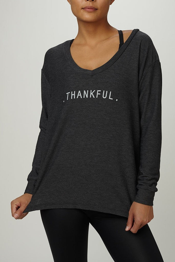 good hYOUman  Sweatshirt THANKFUL - The Romy JUJA Active - 1