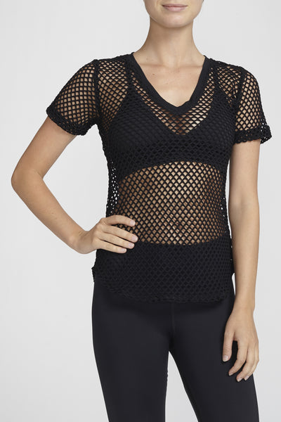 Haute Body-Short Sleeve Tee-JUJA Active-Favorite Mesh Tee - Black