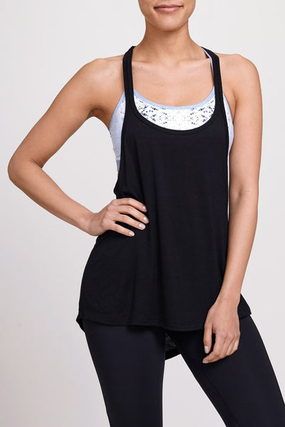 Jala Clothing-Tank-JUJA Active-Duo Tank - Black