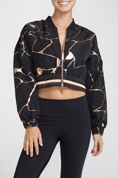 Lime & Vine-Jacket-JUJA Active-Gwen Cropped Bomber