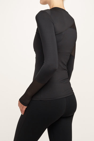 Lukka Lux-Long Sleeved Tee-JUJA Active-Trippin Long Sleeve - Black Onyx