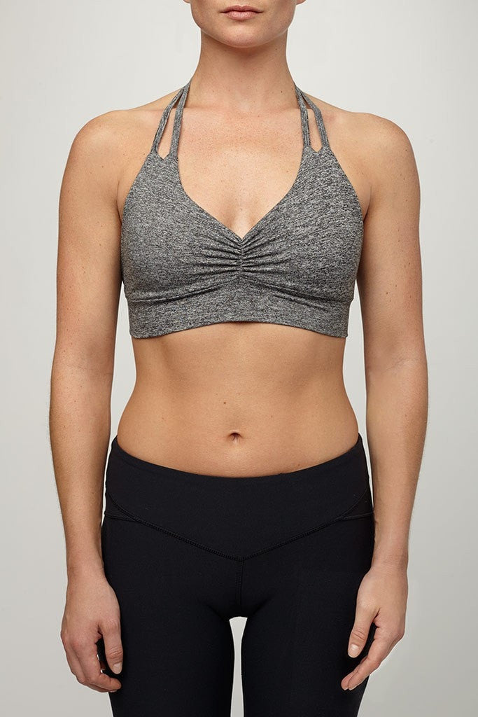 Mia Brazilia-Bra Top-JUJA Active-Halter Bra Top - Heather Grey
