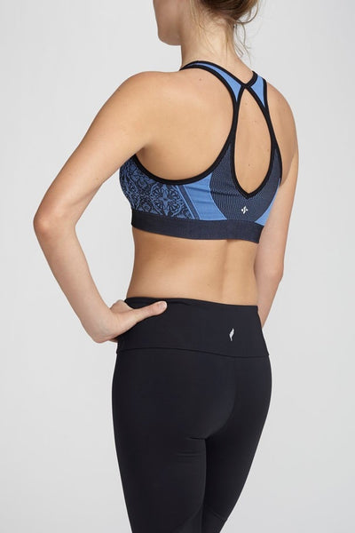 NUX-Bra Top-JUJA Active-Charlotte Bra - Provence Blue