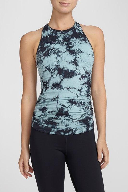 NUX-Shelf Bra-JUJA Active-Spellbound Cami - Indian Sage/Charcoal