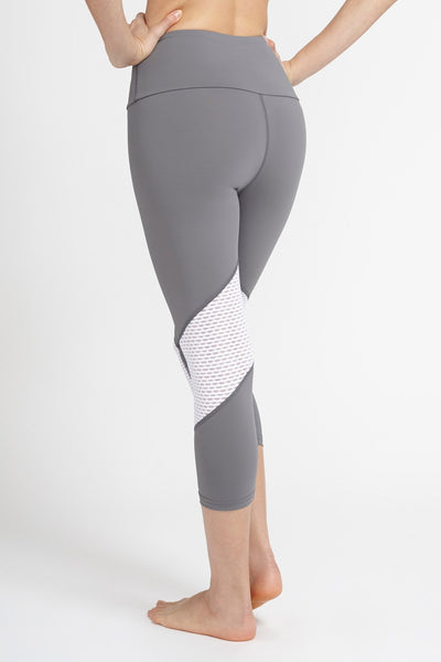 Pheel-Capri-JUJA Active-Getaway High-Waisted Capri - Grey/White