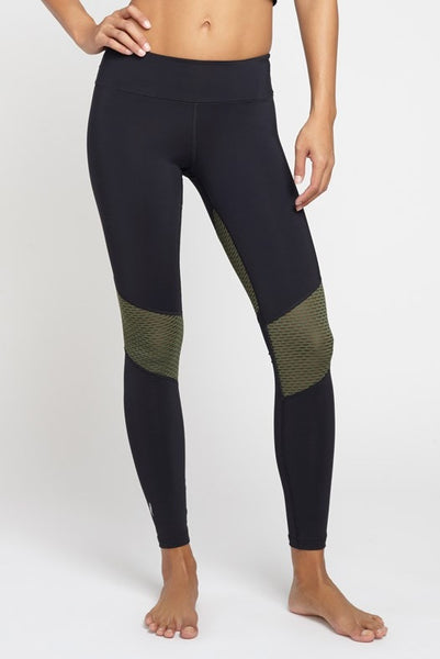 Pheel  Legging Getaway Long Pant - Black/Army JUJA Active - 1