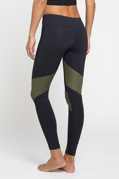 Pheel  Legging Getaway Long Pant - Black/Army JUJA Active - 2