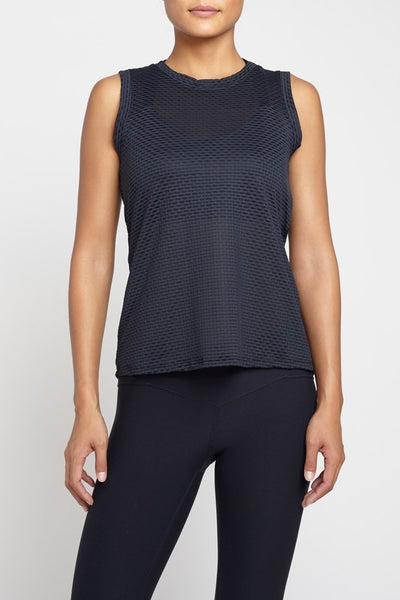 Pheel  Tank Twist Top - Black JUJA Active - 1