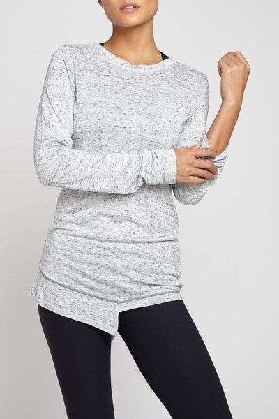 Rules of Play-Long Sleeved Tee-JUJA Active-Knit Tunic - Heather Grey