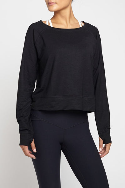 Rules of Play  Long Sleeved Tee L/S Crop - Black JUJA Active - 1