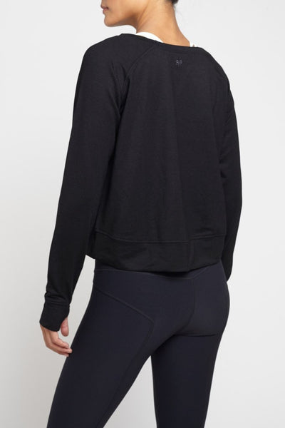Rules of Play  Long Sleeved Tee L/S Crop - Black JUJA Active - 2