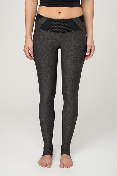 Track & Bliss-Legging-JUJA Active-City Mesh Leggings in Heather Charcoal/Black