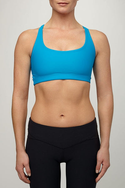 Valleau Apparel-Bra Top-JUJA Active-Sea Breeze Sports bra