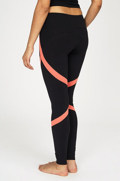 VIPE-Legging-JUJA Active-Wicked Wrap Legging - Black/Coral