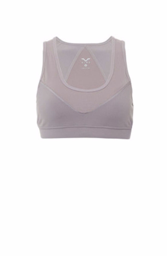 VIPE-Bra Top-JUJA Active-Gem Crop Sports Bra - Dusty Purple