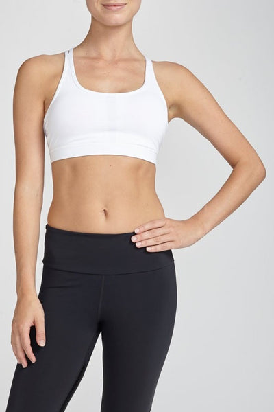 W.I.T.H.-Bra Top-JUJA Active-Strappy Bra - White