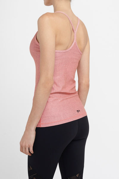 W.I.T.H.-Shelf Bra-JUJA Active-Support Tank - Blush Pink Serge