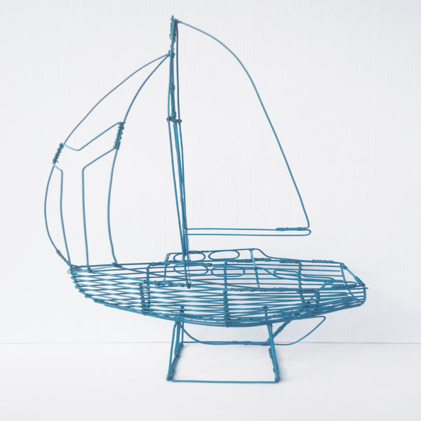 Blue Wire Boat