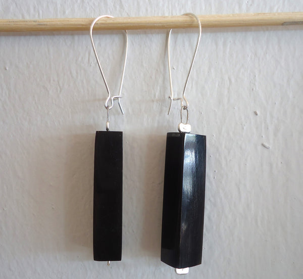 Black Liquorice Loop Earrings