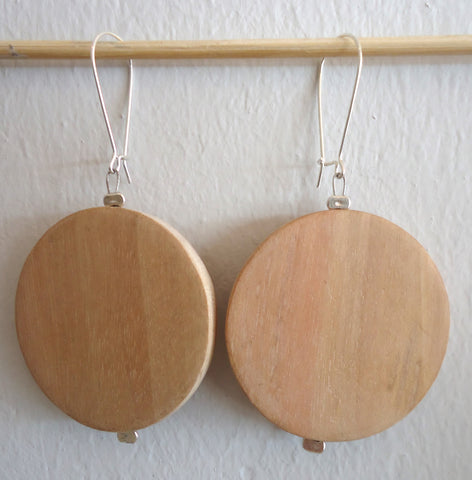 White Chocolate Loop Earrings