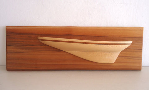 Beech Half Model with Teak Inlay