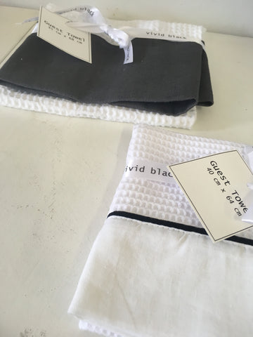 Vivid Black Guest Towels
