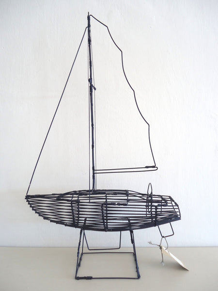 Navy Blue Wire Boat