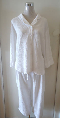 Airy White Leisure Suit