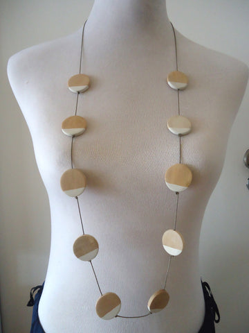 Painted Dots Loop Necklace
