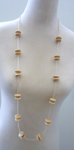 Pale Flying Saucers Loop Necklace