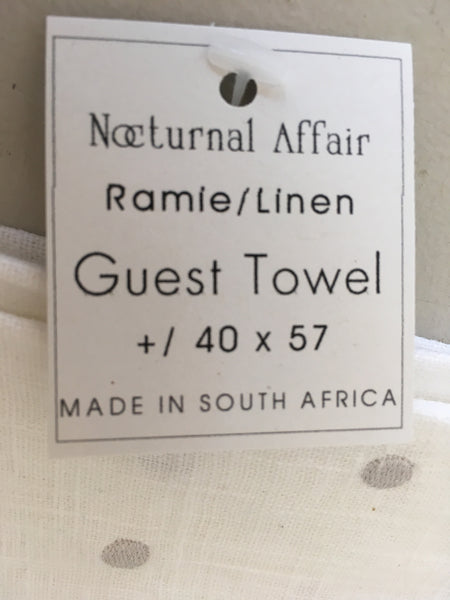 Nocturnal Affair Linen Guest Towel