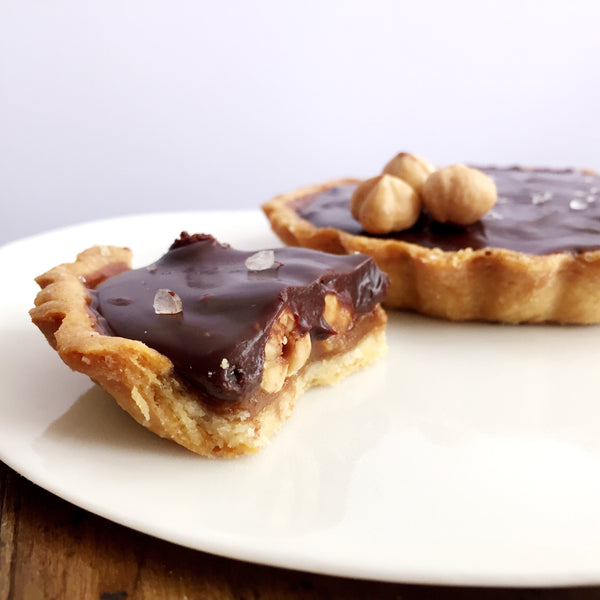 Caramelised Hazelnuts Dark Chocolate Tart w/ Sea Salt Flakes Recipe