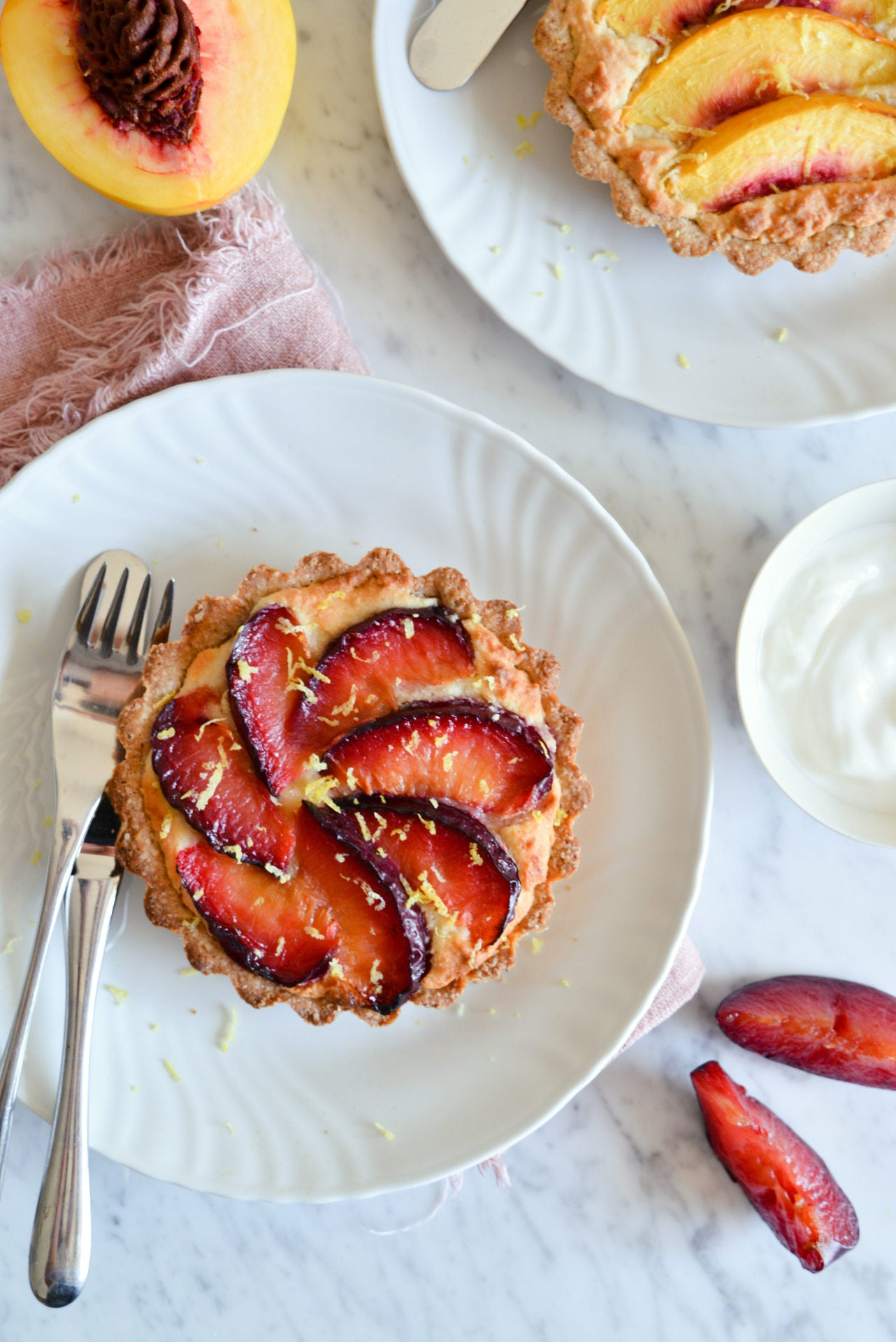 Frangipane Tart with Plums Recipe. Using Molino Pasini Primitiva Flour