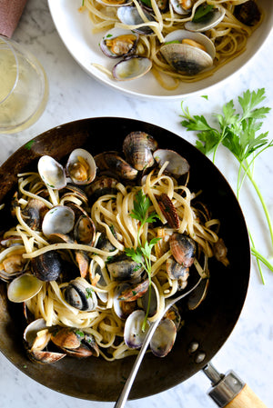 Linguine alle Vongole. Linguine with Clams Recipe