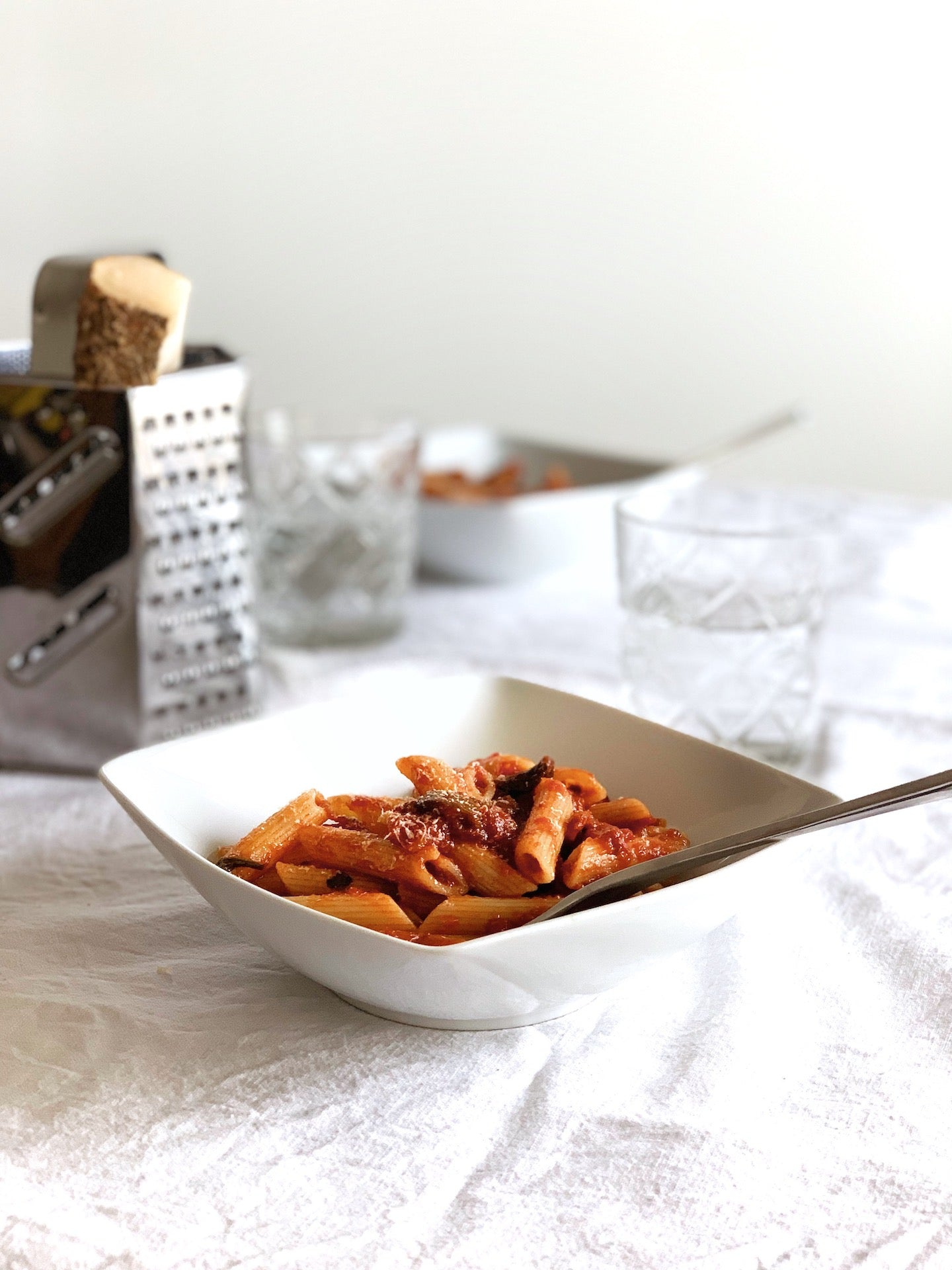 A quick pasta, with our new favourite sauce