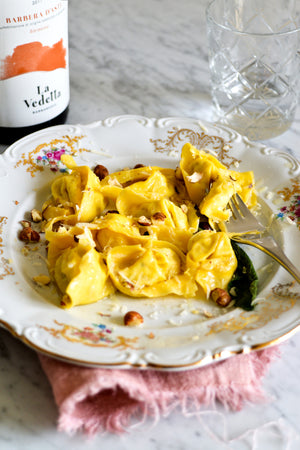 Ravioli with Hazelnuts Pear Ricotta & Blue Cheese Recipe