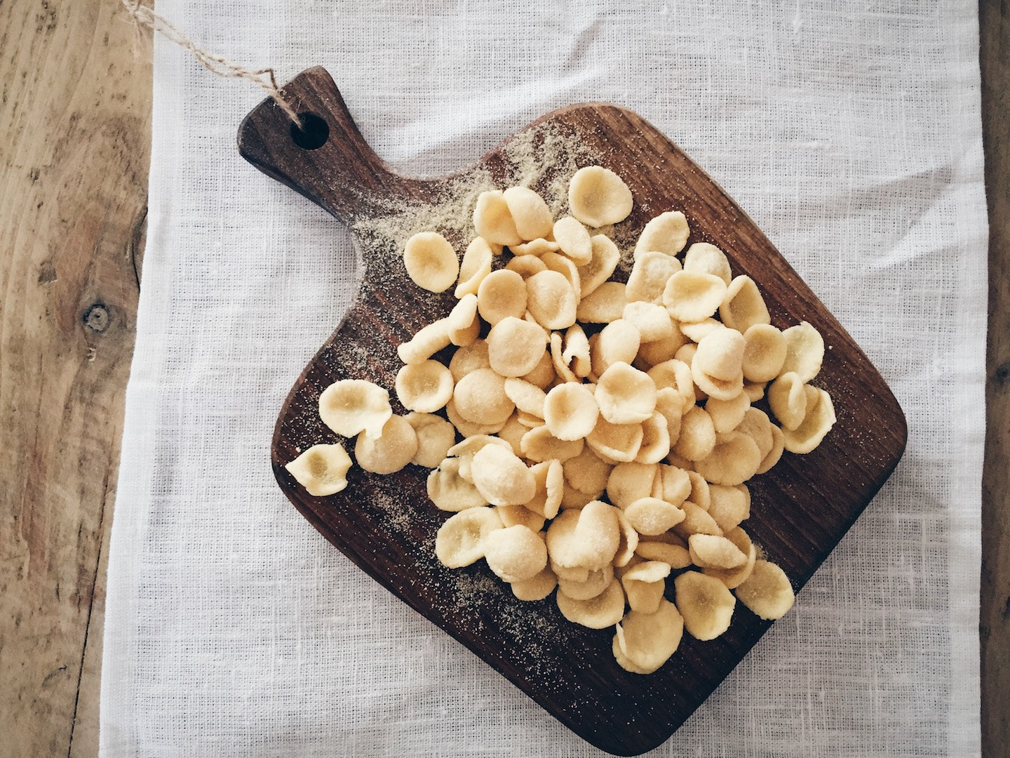 Homemade Fresh Pasta Recipe - Orecchiette Recipe - Semolina Pasta Recipe