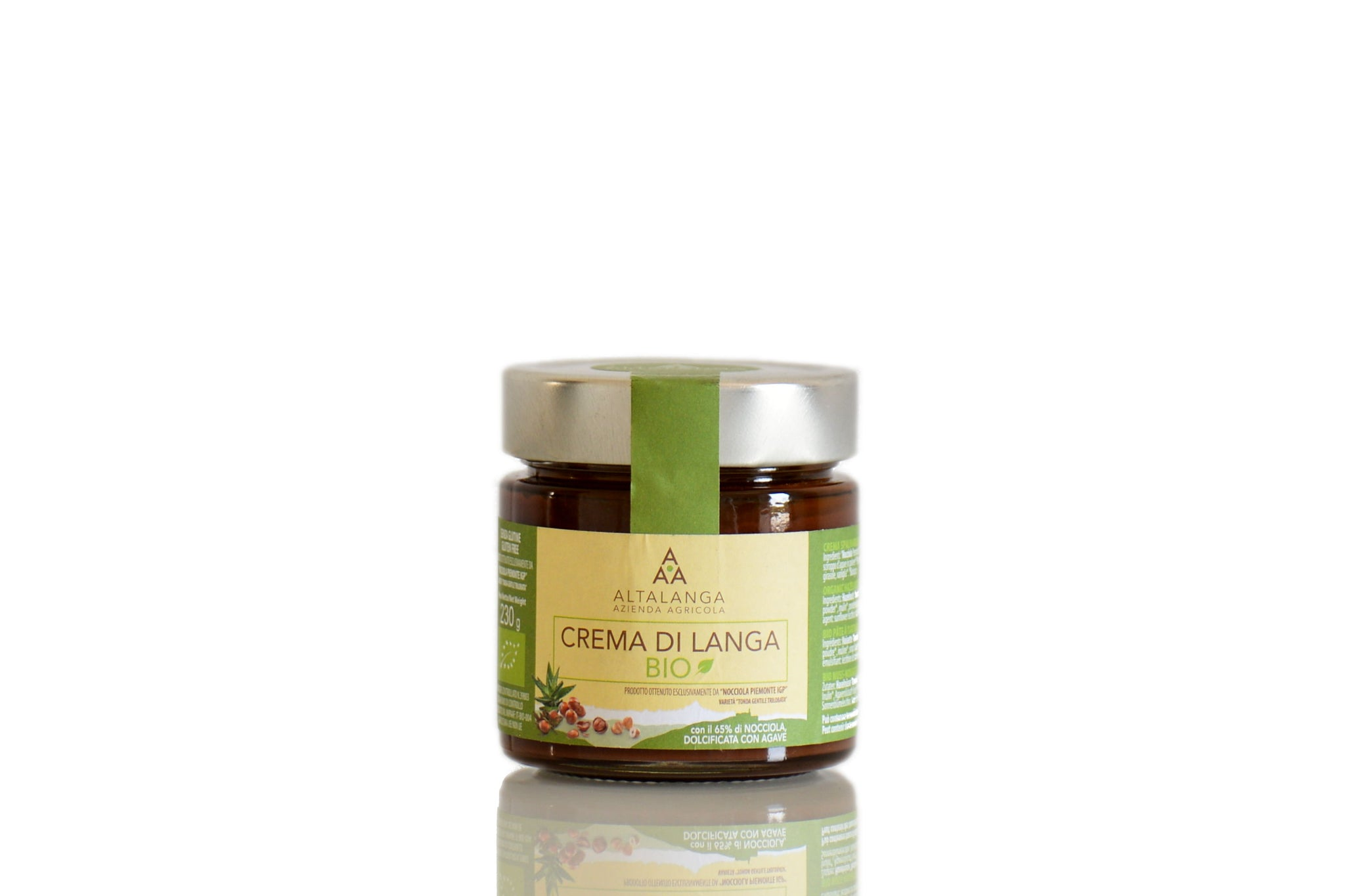 Altalanga Organic Hazelnuts Spread with Agave 230g Sugar Free Hazelnut Spread Shop at the Red Beetle