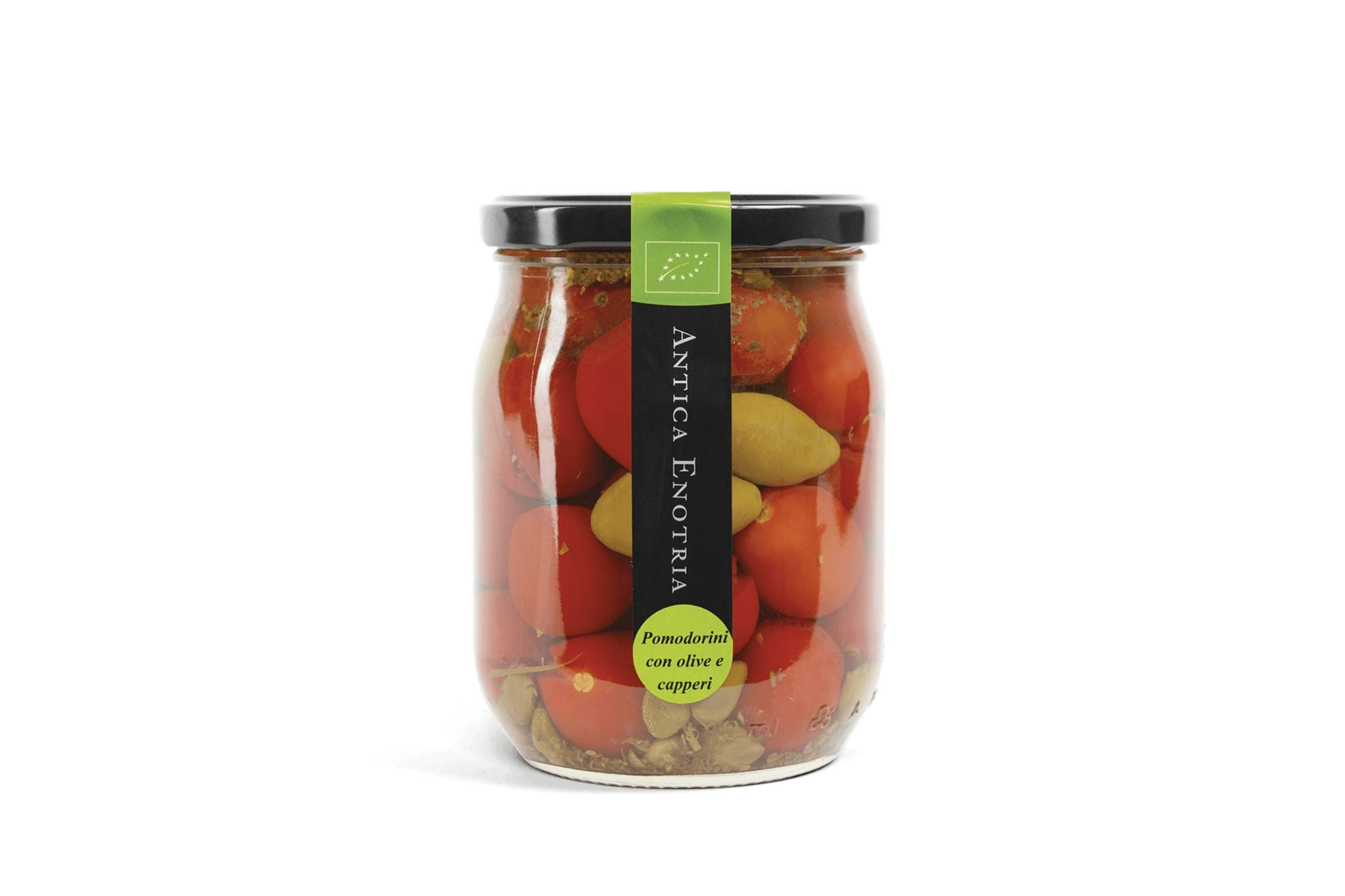 Organic Tomatoes Bella di Cerignola Olives and Capers 580g