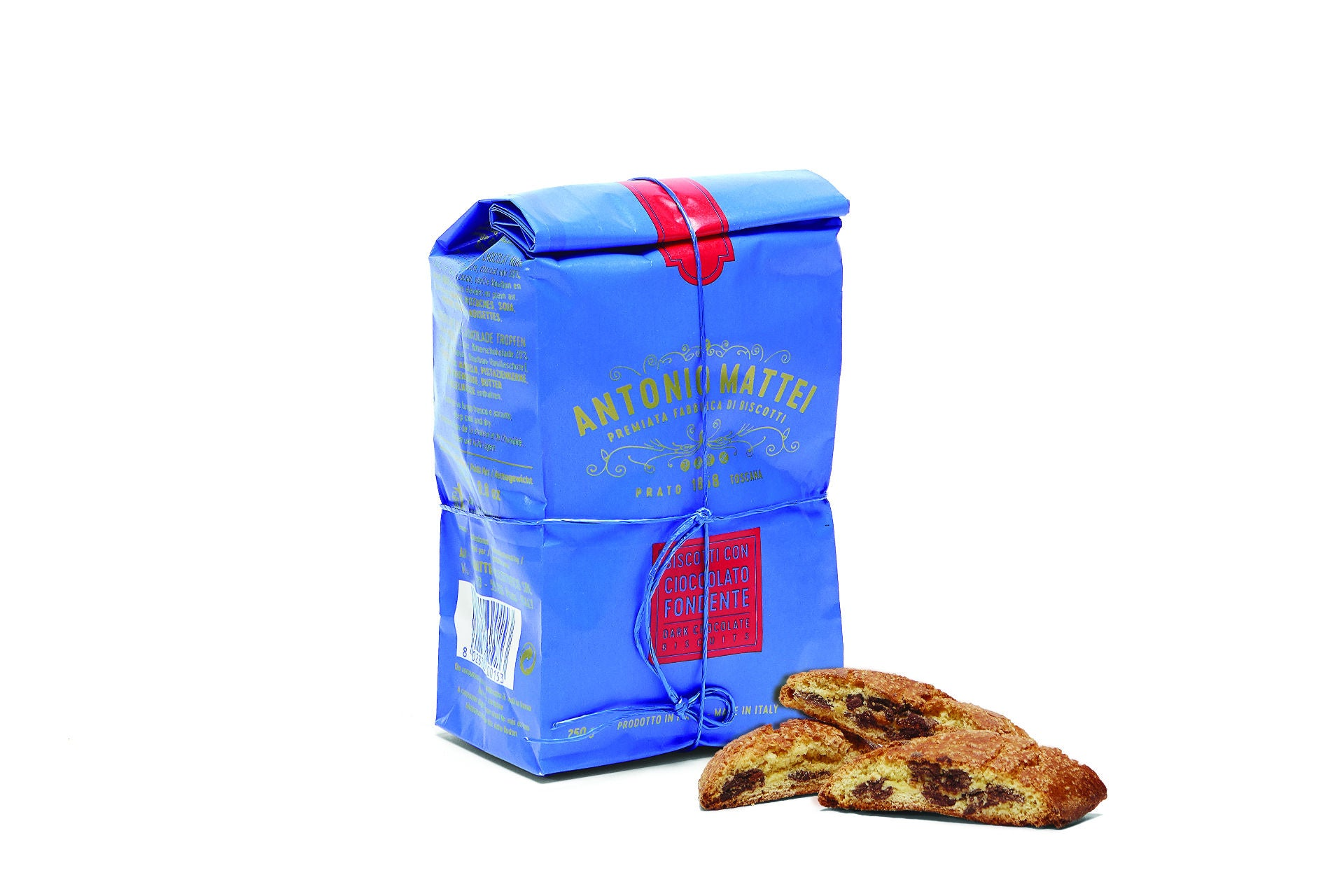 Antonio Mattei Chocolate Cantucci Biscuit Made in Prato, Tuscany - Shop at the Red Beetle