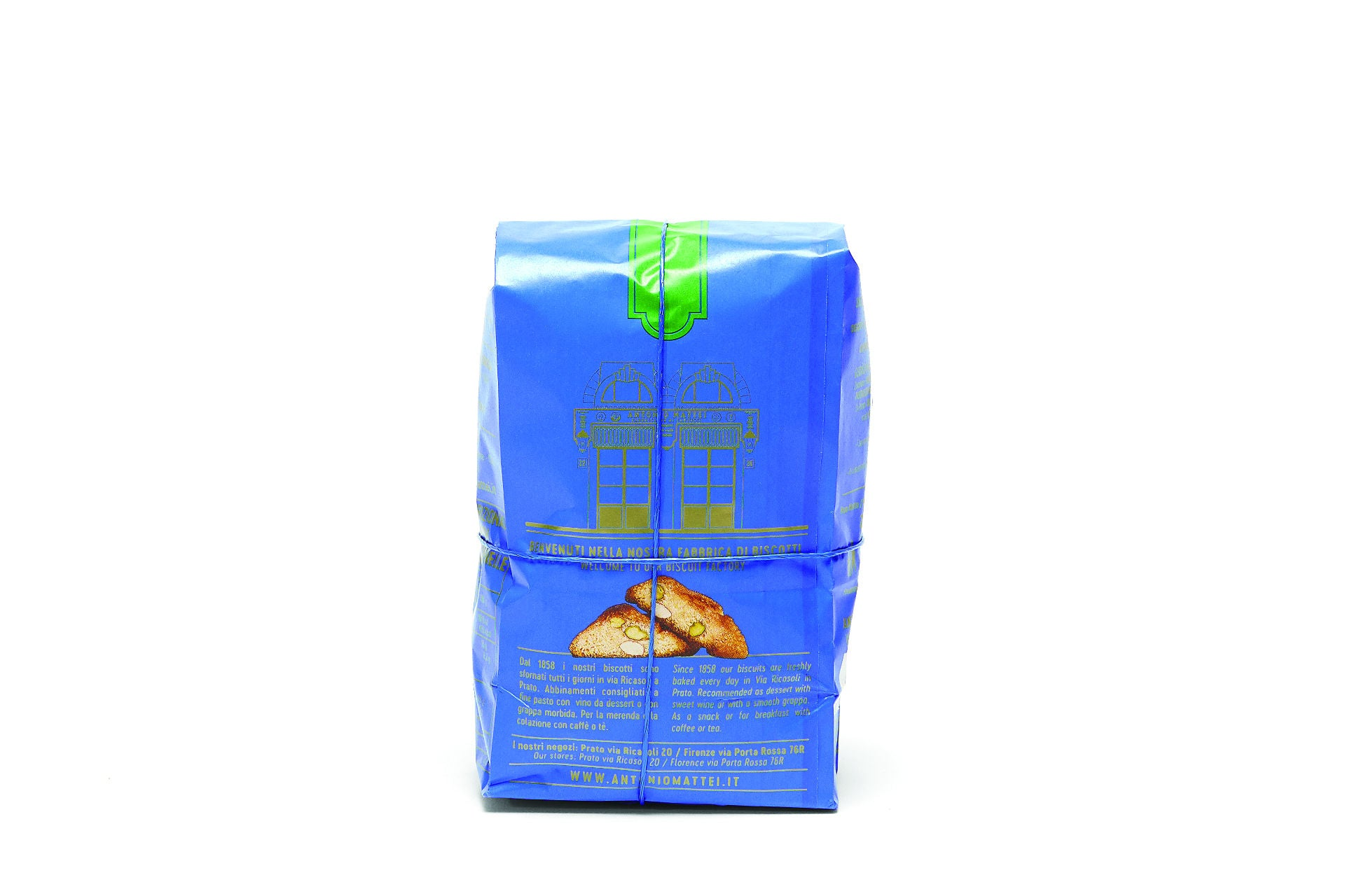 Antonio Mattei Pistachios and Almonds Cantucci Made in Prato, Tuscany - Shop at the Red Beetle