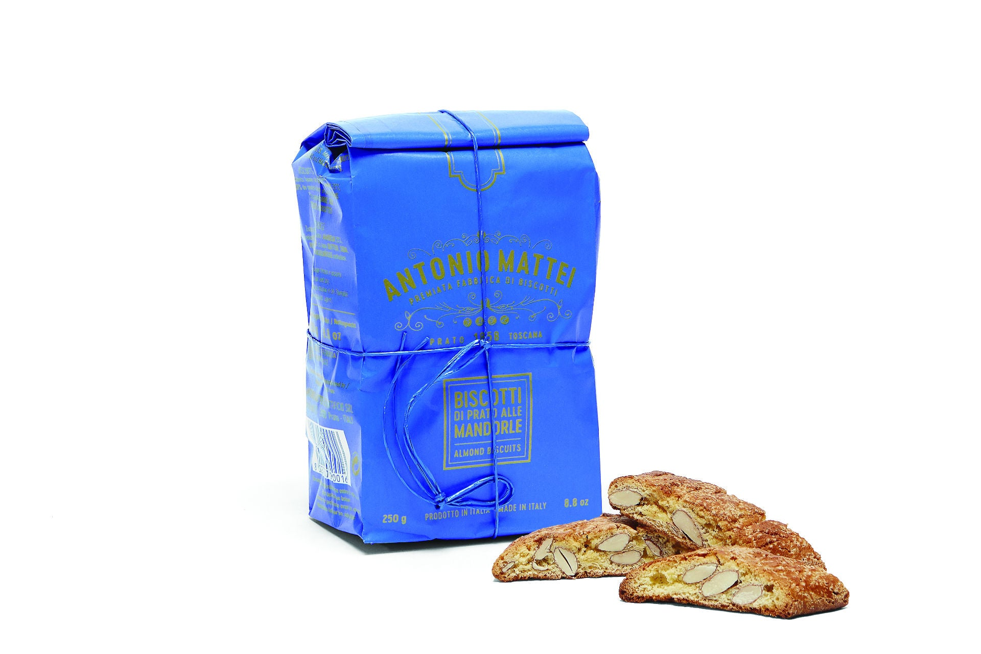 Antonio Mattei Original Cantucci Almonds Pinenuts Biscuits Made in Prato, Tuscany - Shop at the Red Beetle