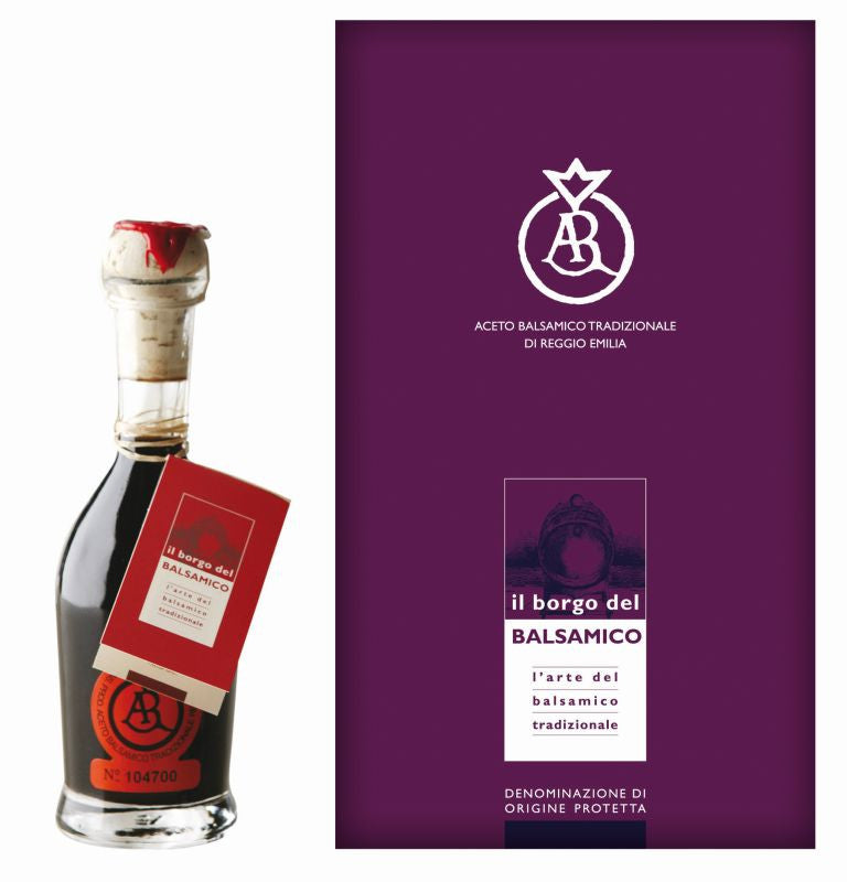 Il Borgo del Balsamico Balsamic Vinegar Reggio Emilia Orange Label Aged 12 Years - the Red Beelte Travelling Food