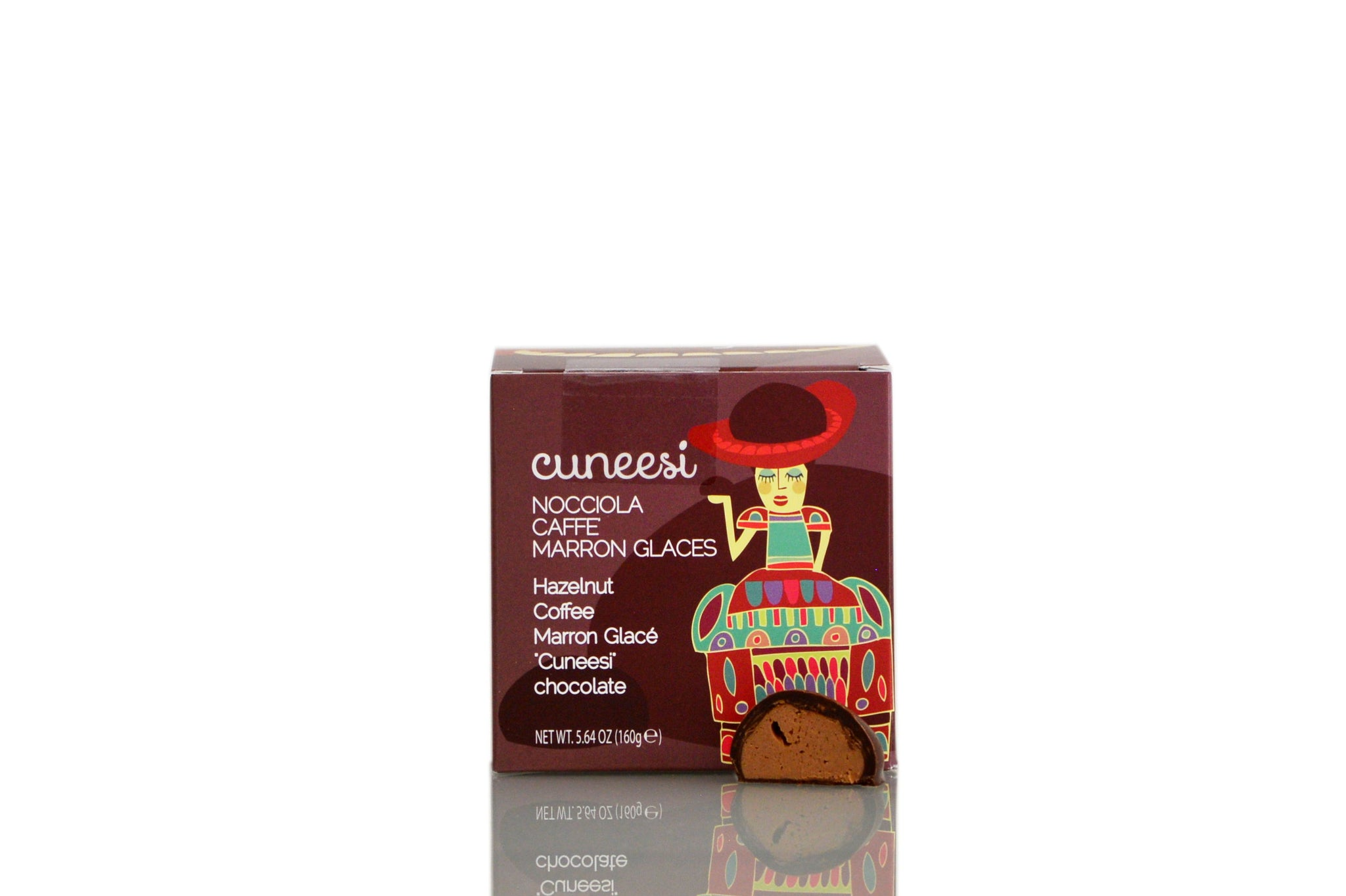 Traditional Cuneesi with Hazelnut, Marron Glacé & Coffee Mixed Box 160g