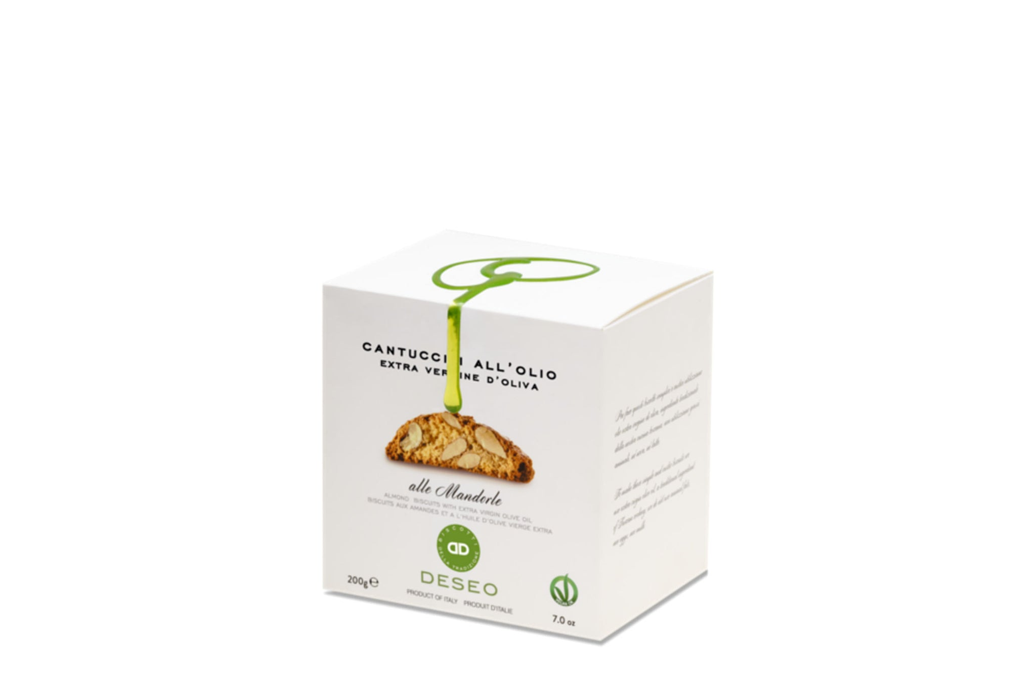 Deseo Vegan Cantuccini w/ Extra Virgin Olive Oil 160g Dairy Free Biscuits Shop the Red Beetle