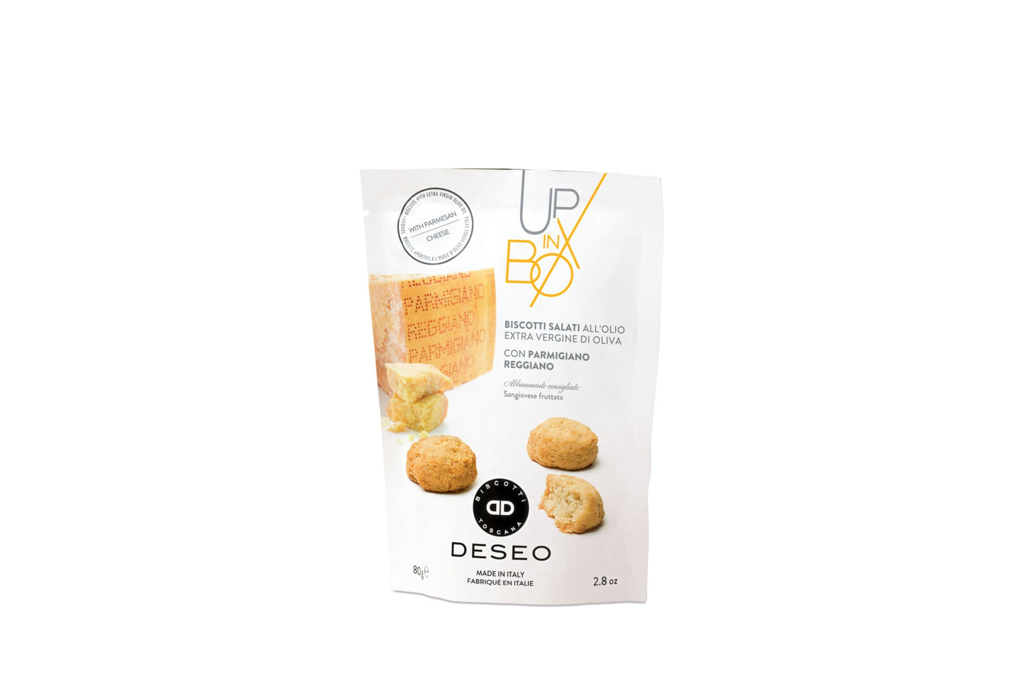 Deseo Parmesan Savoury Aperitivo Biscuits 80g Made in Tuscany Shop the Red Beetle
