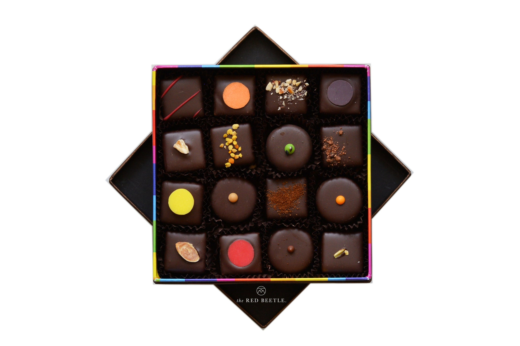 Enrico Rizzi Box of 16 Chocolate Pralines Handmade in Milan