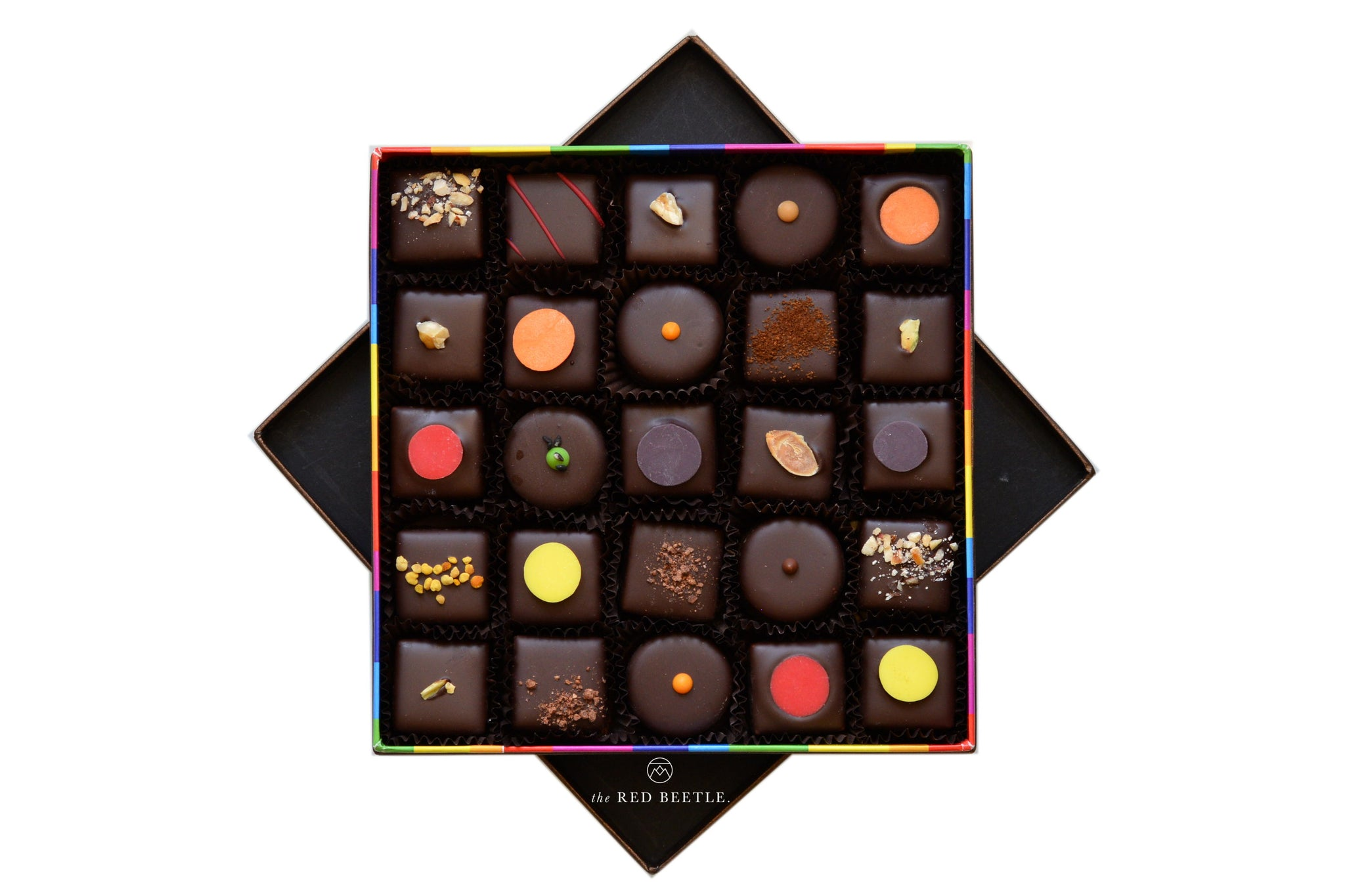 Enrico Rizzi Box of 25 Chocolate Pralines Handmade in Milan