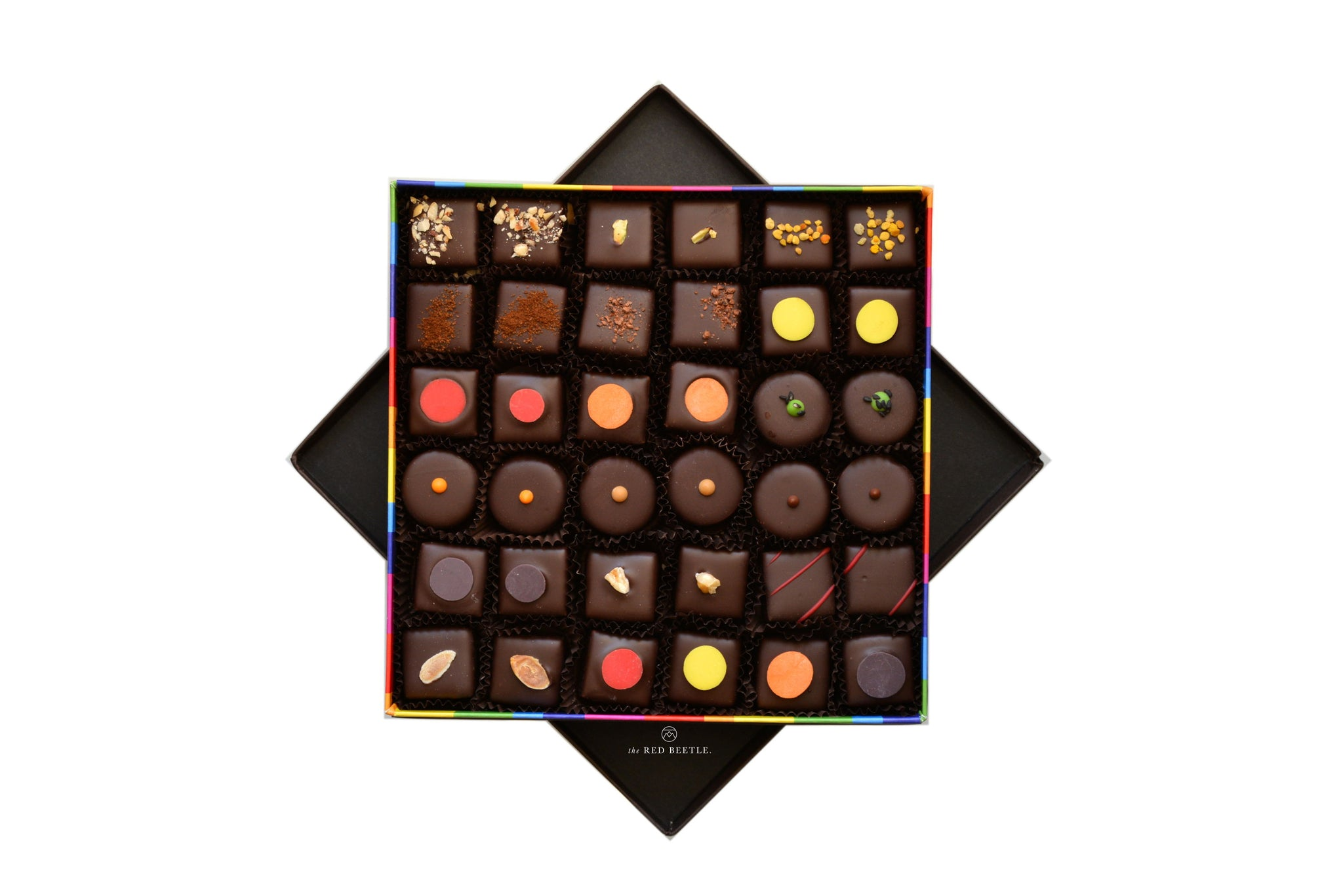 Box of 36 Chocolate Pralines Handmade in Milan