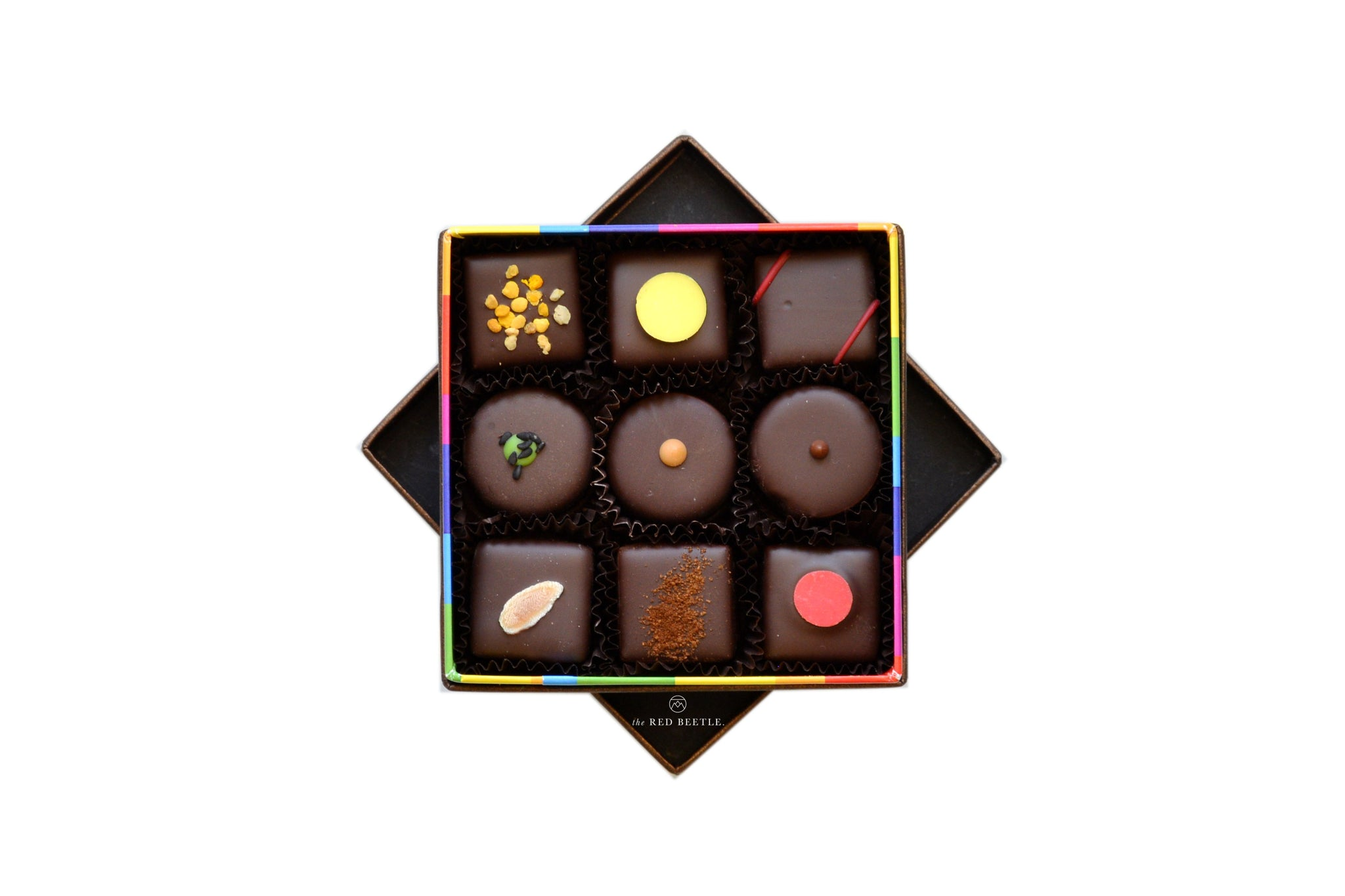 Enrico Rizzi Box of 9 Chocolate Pralines Handmade in Milan